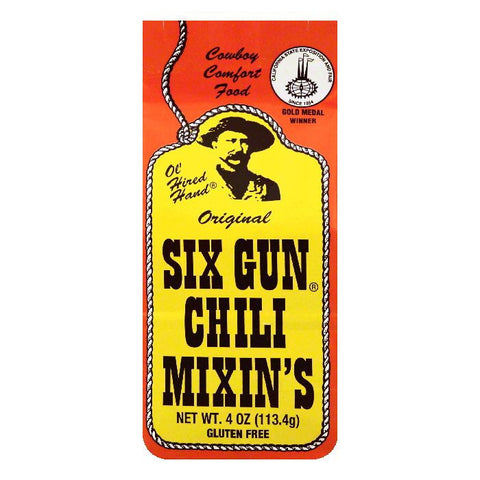 Ol Hired Hand Original Six Gun Chili Mixin's, 4 OZ (Pack of 12)