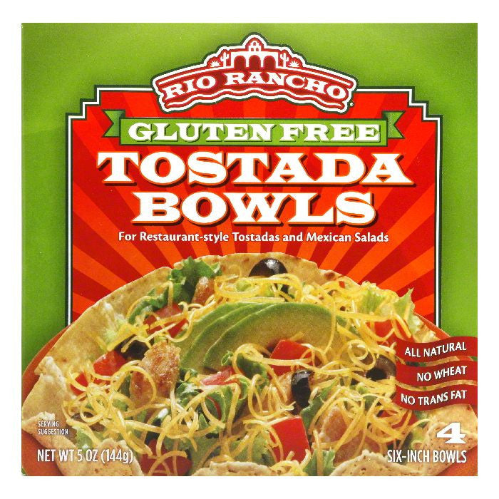 Rio Rancho 6 Inch Tostada Bowls, 4 PC (Pack of 6)