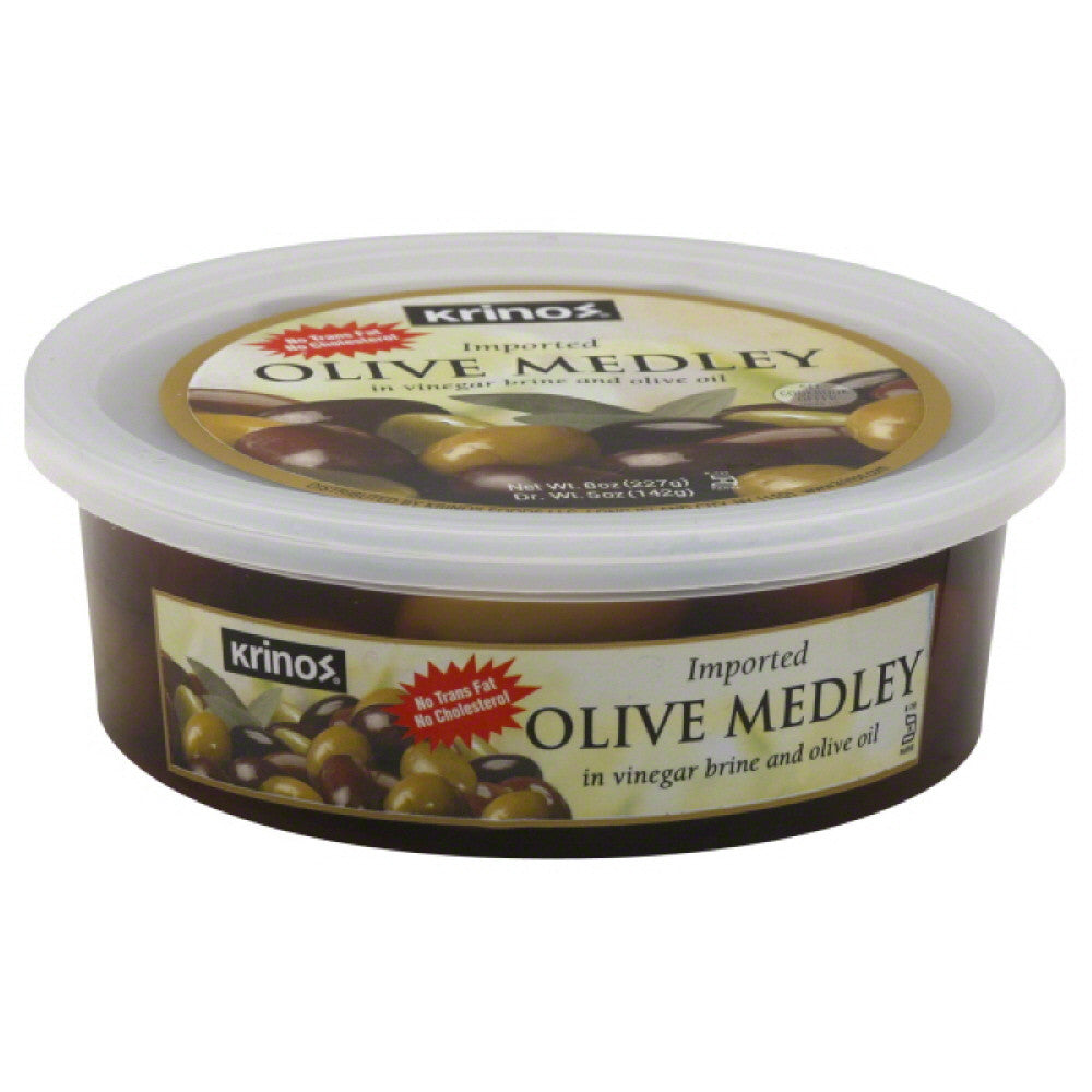 Krinos Imported Olive Medley, 8 Oz (Pack of 12)