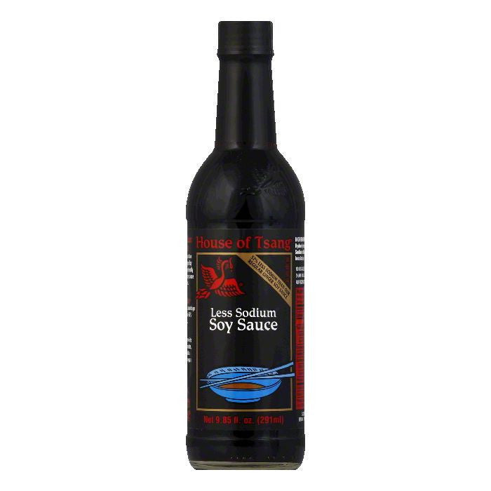 House of Tsang Soy Sauce Less Sodium, 9.85 OZ (Pack of 6)