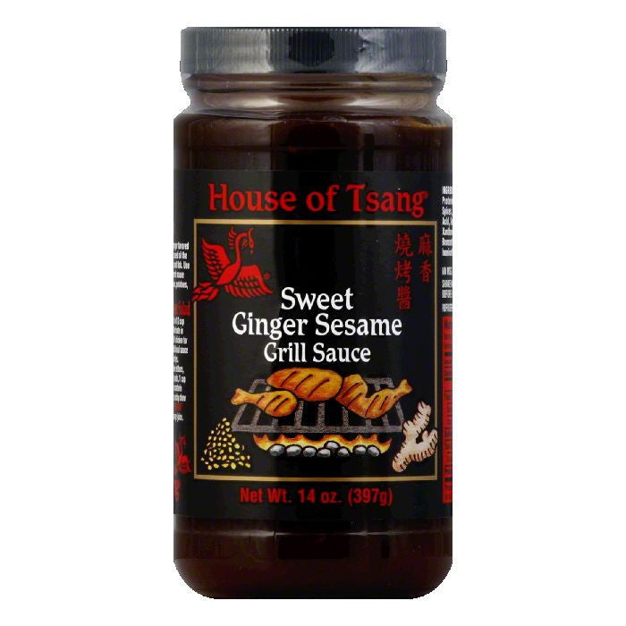 House of Tsang HIBACHI GRILL Sauce Sweet Ginger Sesame, 14 OZ (Pack of 6)