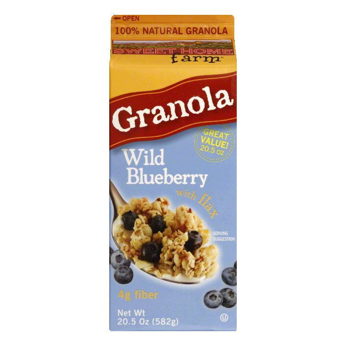 Sweet Home Farm with Flax Wild Blueberry Granola, 20.5 Oz (Pack of 8)