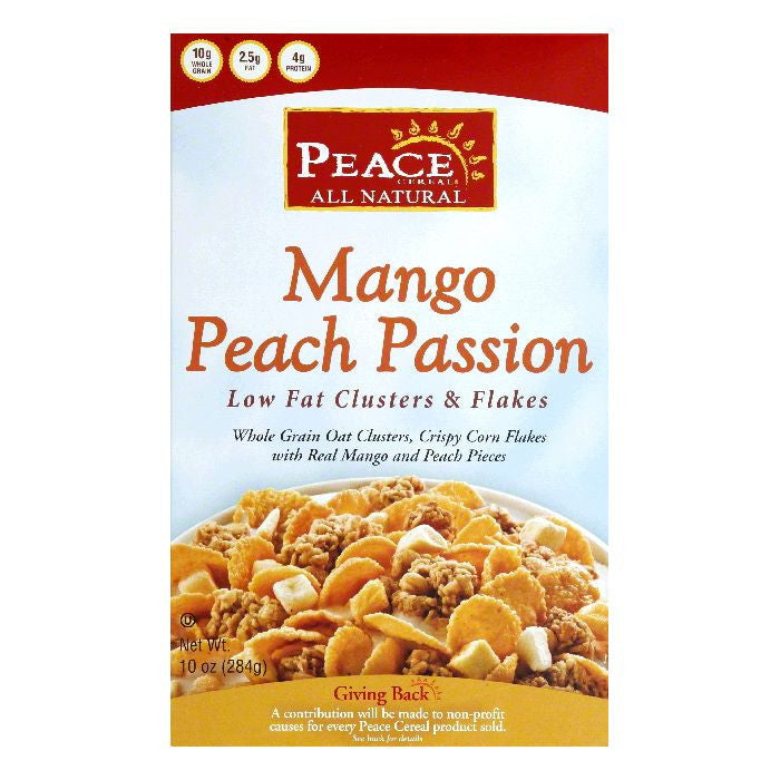 Peace Cereal Mango Peach Passion Cereal, 10 Oz (Pack of 6)