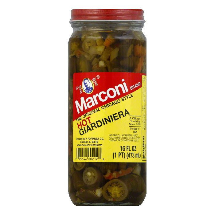 Marconi Giardinara Relish in Oil Hot, 16 OZ (Pack of 12)
