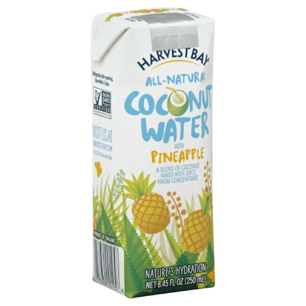 Harvest Bay Coconut Water with Pineapple, 250 Ml (Pack of 12)