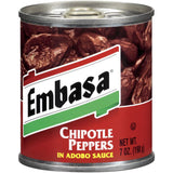 Embasa Chipotle Peppers in Adobo Sauce 7 Oz  (Pack of 12)