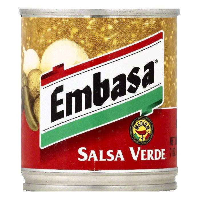 Embasa Medium Verde Salsa, 7 OZ (Pack of 12)