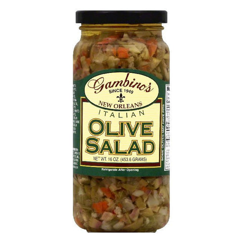 Gambinos Italian Olive Salad, 16 OZ (Pack of 6)