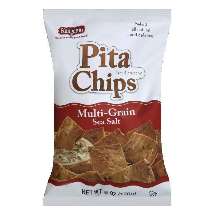 Kangaroo Chip Pita Multigrain Sea Salt, 6 OZ (Pack of 12)