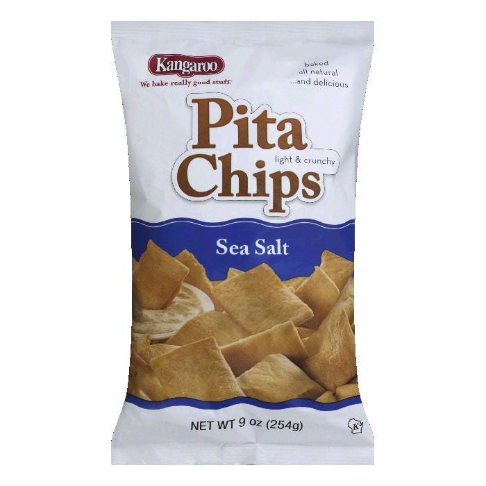 Kangaroo Chip Pita Sea Salt, 9 OZ (Pack of 12)