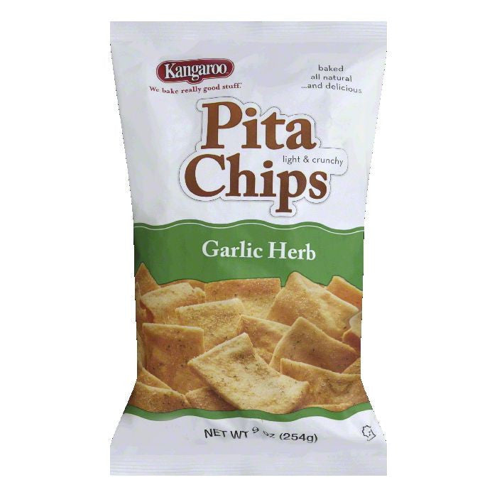 Kangaroo Garlic Herb Pita Chips, 9 Oz (Pack of 12)