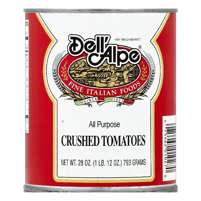 Dell Alpe Crushed Tomatoes, 28 OZ (Pack of 12)