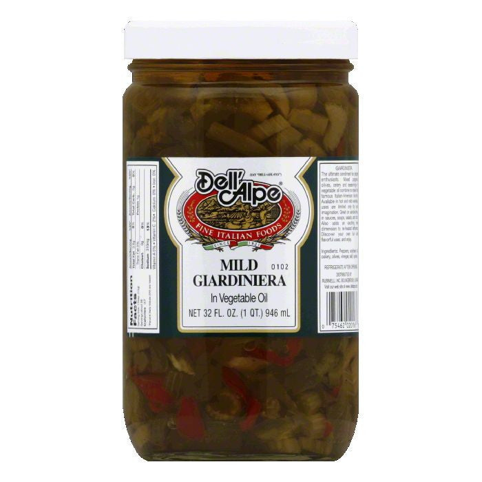 Dell' Alpe Mild Giardiniera in Oil, 32 OZ (Pack of 6)