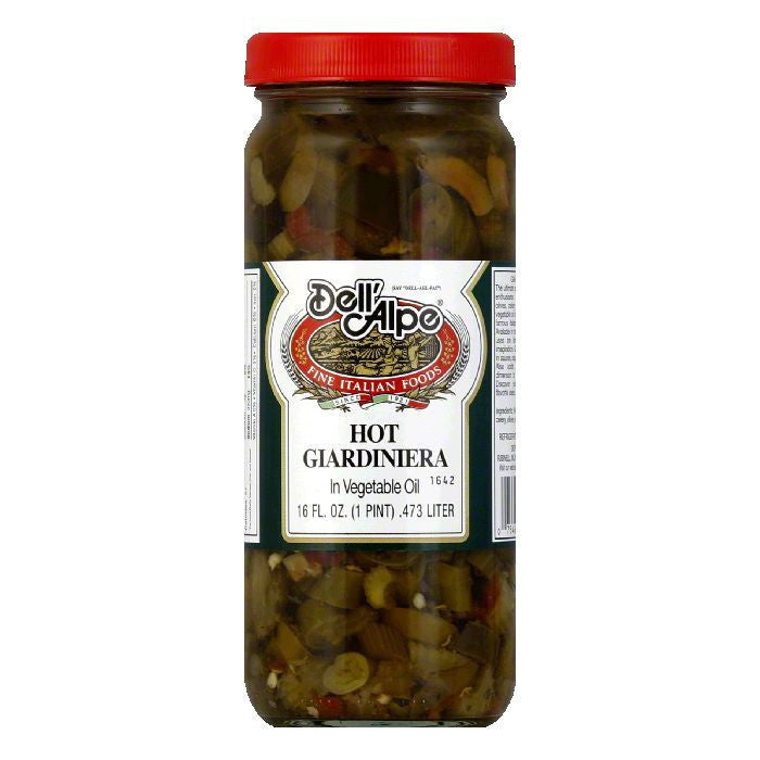 Dell' Alpe Hot Giardiniera, 16 OZ (Pack of 12)