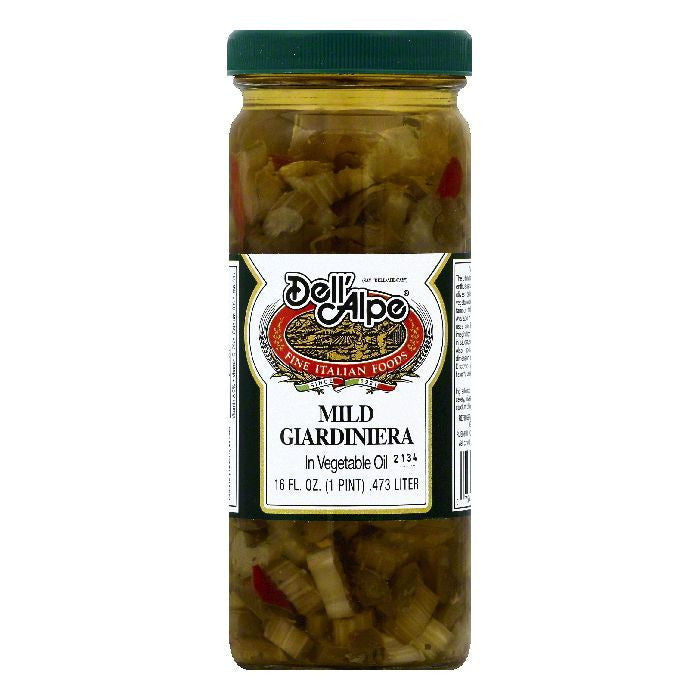 Dell Alpe Mild in Vegetable Oil Giardiniera, 16 OZ (Pack of 12)