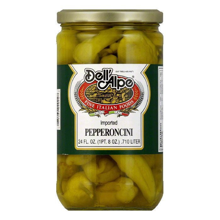 Dell' Alpe Peperoncini, 24 OZ (Pack of 12)