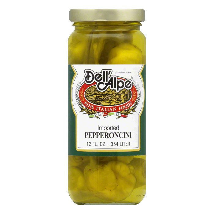Dell' Alpe Pepperoncini, 12 OZ (Pack of 12)