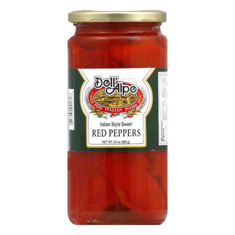 Dell Alpe Italian Style Sweet Red Peppers, 24 Oz (Pack of 12)