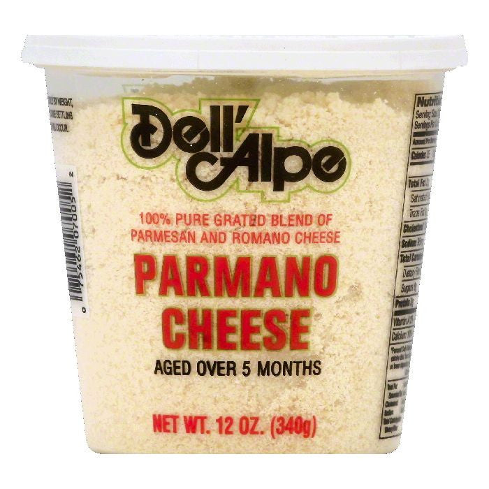 Dell Alpe Parmano Cheese, 12 OZ (Pack of 6)