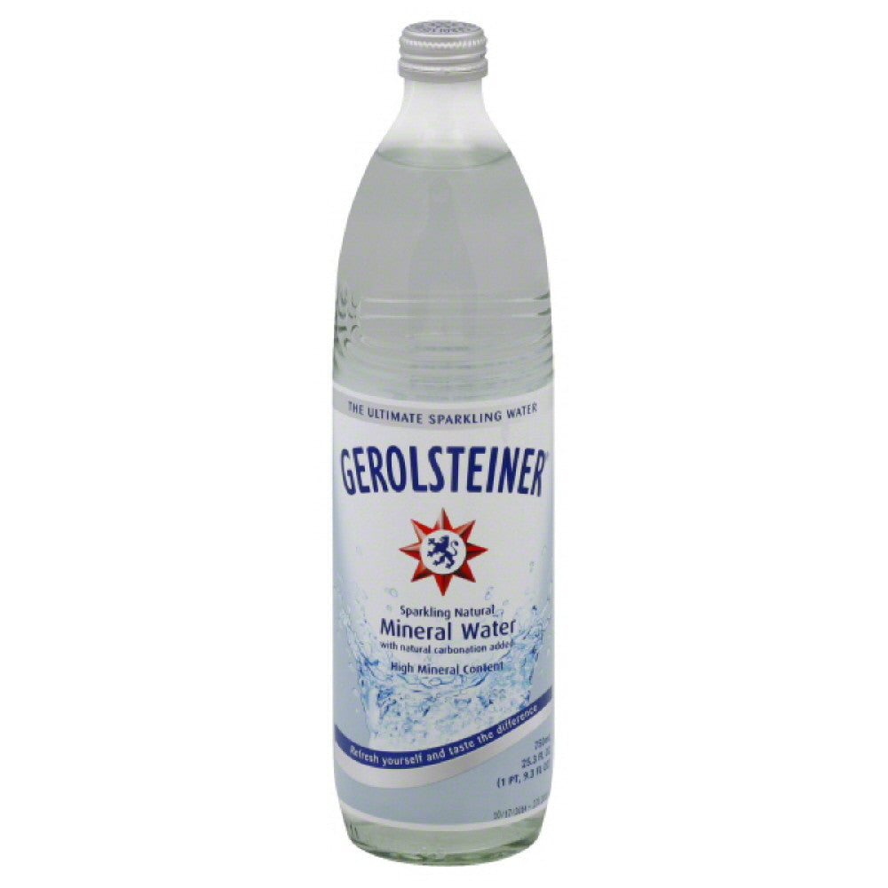Gerolsteiner Sparkling Natural Mineral Water, 25.3 Fo (Pack of 15)