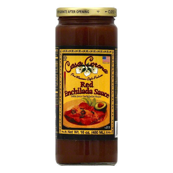 Casa Corona Red Enchilada Sauce, 16 OZ (Pack of 12)