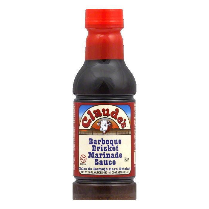 Claude's BBQ Brisket Marinade Sauce, 16 OZ (Pack of 6)