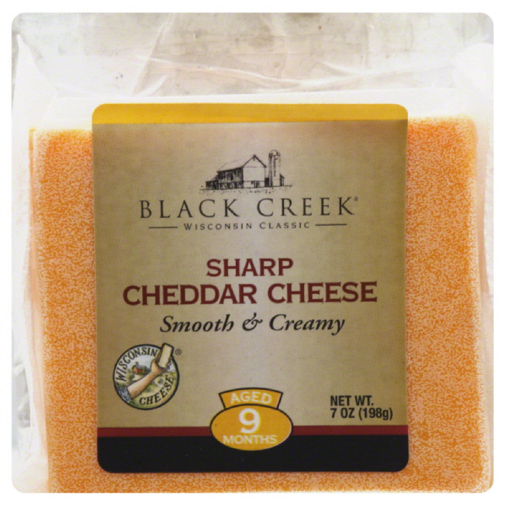 Black Creek Sharp Cheddar Cheese, 7 Oz (Pack of 18)