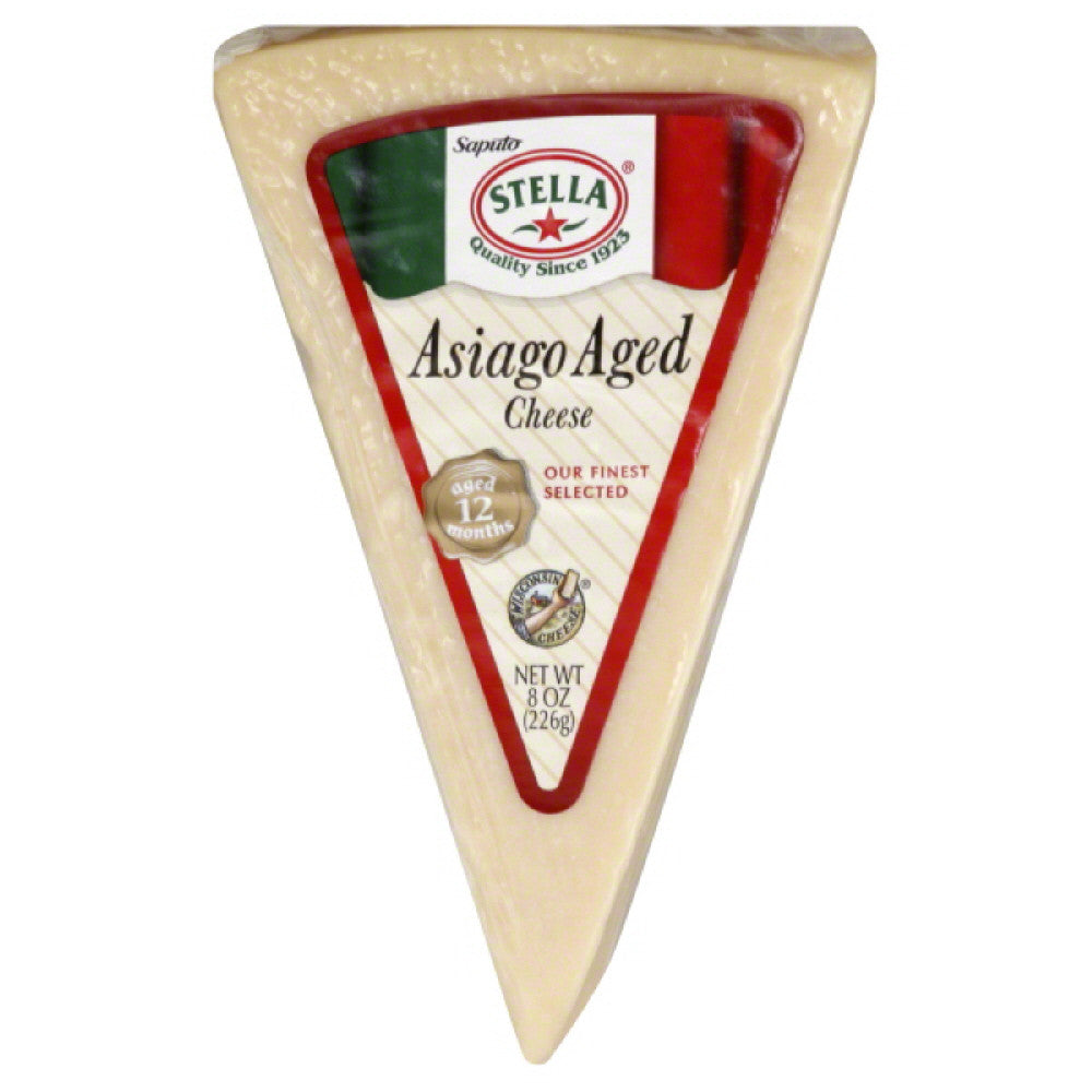 Stella Asiago Aged Cheese, 8 Oz (Pack of 16)