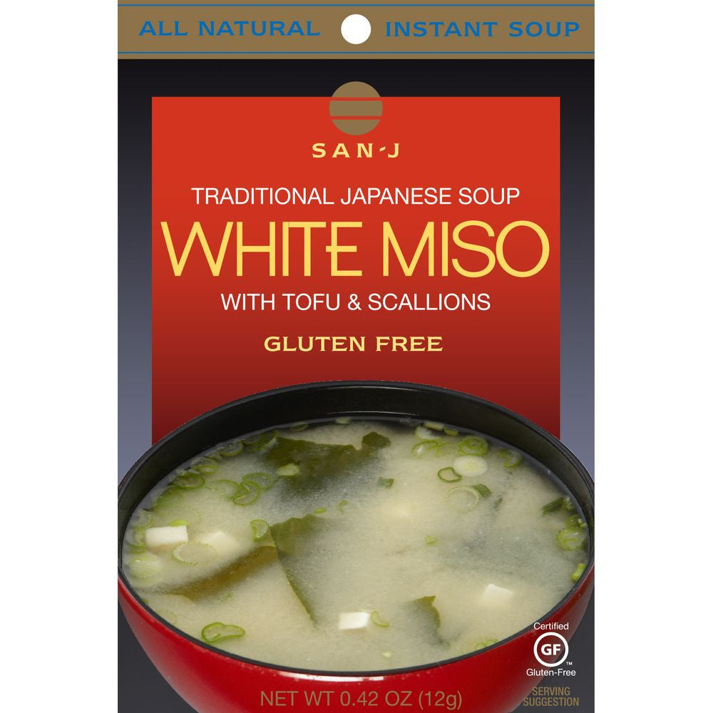 San J White Miso Instant Soup, 0.42 OZ (Pack of 36)