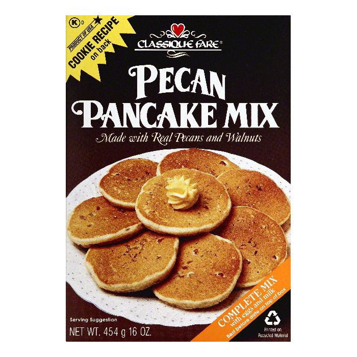 Classique Fare Pecan Pancake Mix, 16 OZ (Pack of 6)