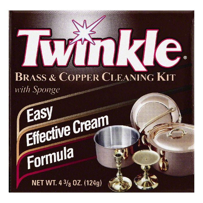 Twinkle Brass & Copper Cleaning Kit with Sponge, 4.375 OZ (Pack of 12)