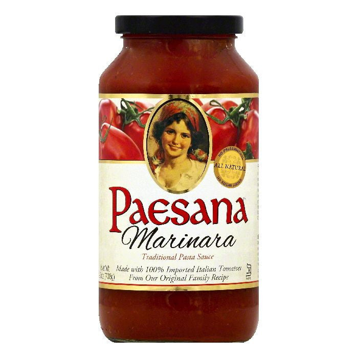 Paesana Marinara Pasta Sauce, 25 OZ (Pack of 6)