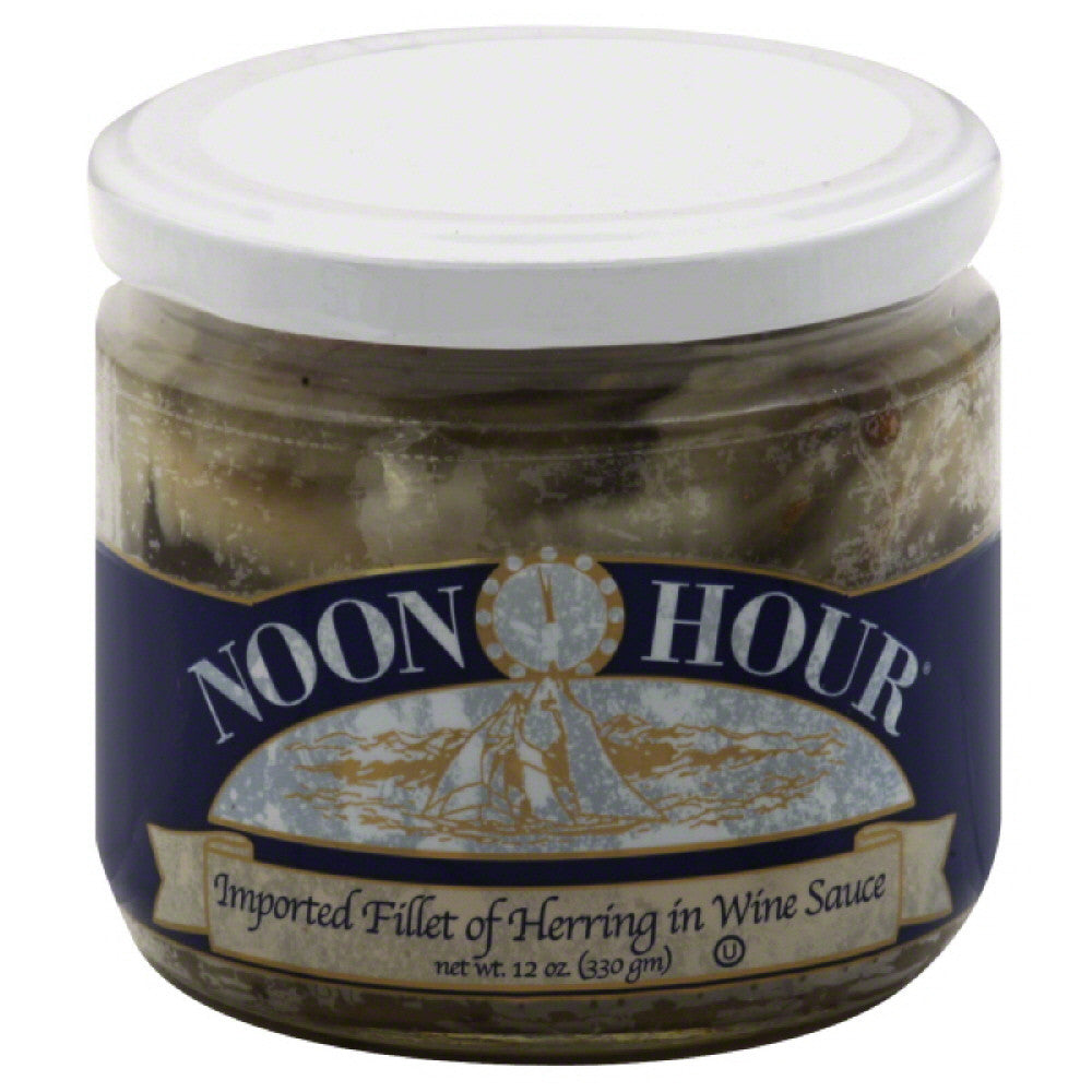 Noon Hour Imported Fillet of Herring in Wine Sauce, 12 Oz (Pack of 12)