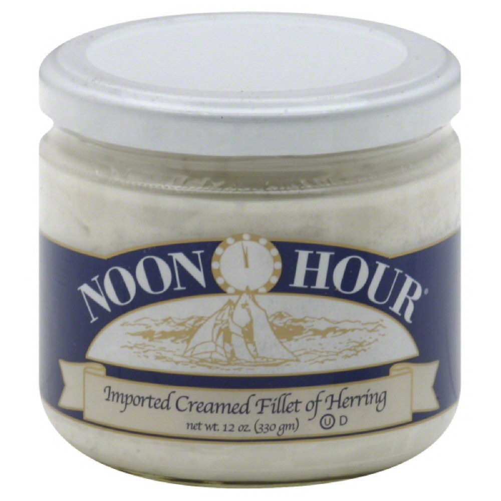 Noon Hour Creamed Fillet Herring, 12 Oz (Pack of 12)