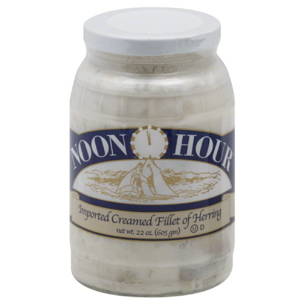 Noon Hour Imported Creamed Fillet of Herring, 22 Oz (Pack of 6)