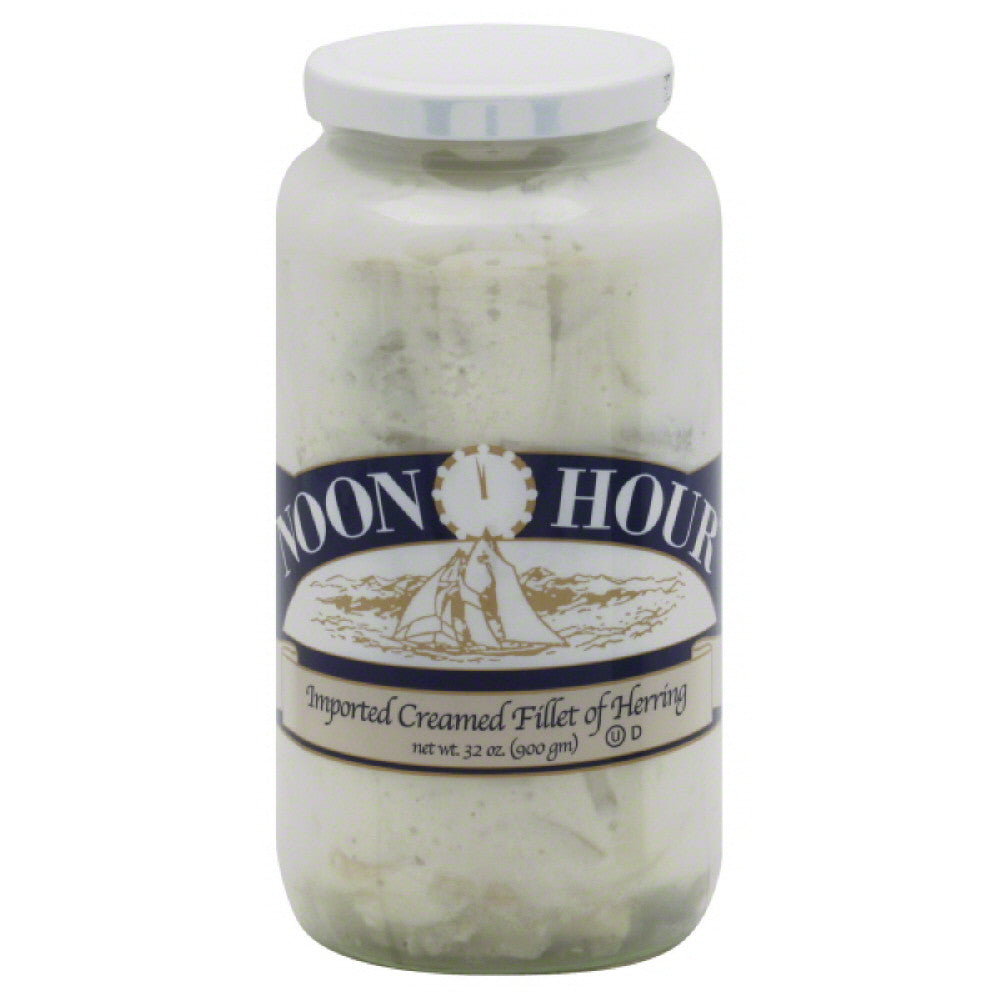 Noon Hour Imported Creamed Fillet of Herring, 32 Oz (Pack of 6)