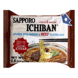 Sapporo Ichiban Japanese Style Noodles & Beef Flavored Soup, 3.5 OZ (Pack of 24)