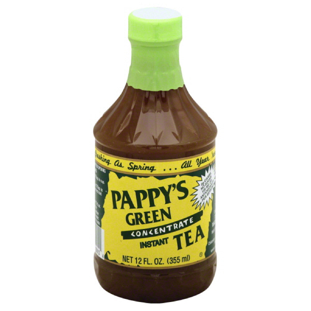 Pappys Instant Concentrate Green Tea, 12 Oz (Pack of 6)