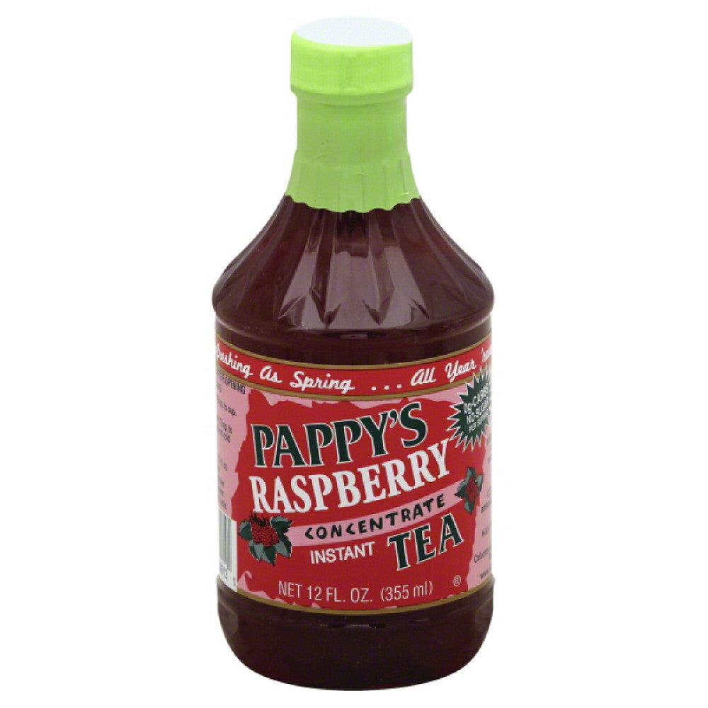 Pappys Instant Concentrate Raspberry Tea, 12 Oz (Pack of 6)
