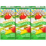 Apple & Eve Organics Apple 100% Juice 3-6.75 fl. Oz Aseptic Packs (Pack of 9)