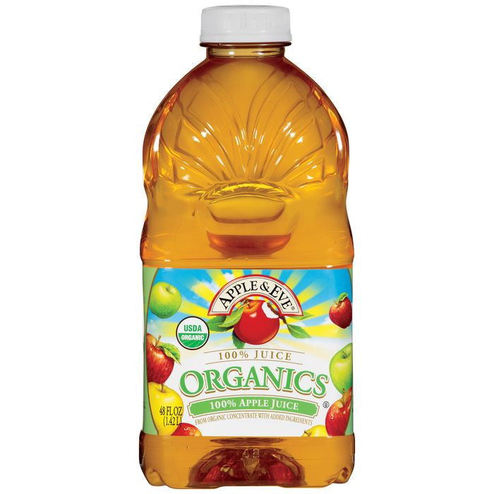 Apple & Eve Organics 100% Apple Juice 48 fl. Oz  (Pack of 8)