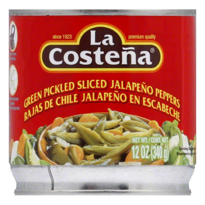 La Costena Sliced Jalapeno, 12 OZ (Pack of 12)