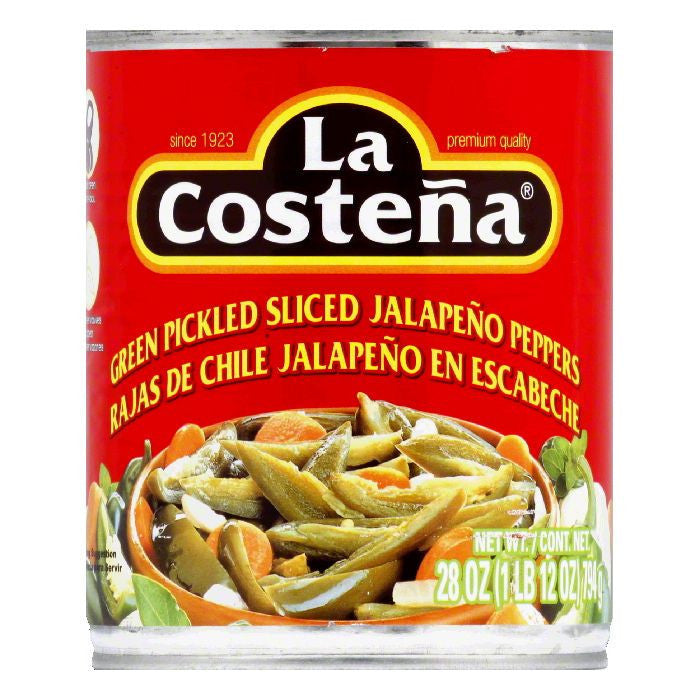 La Costena Sliced Jalapeno, 28 OZ (Pack of 12)