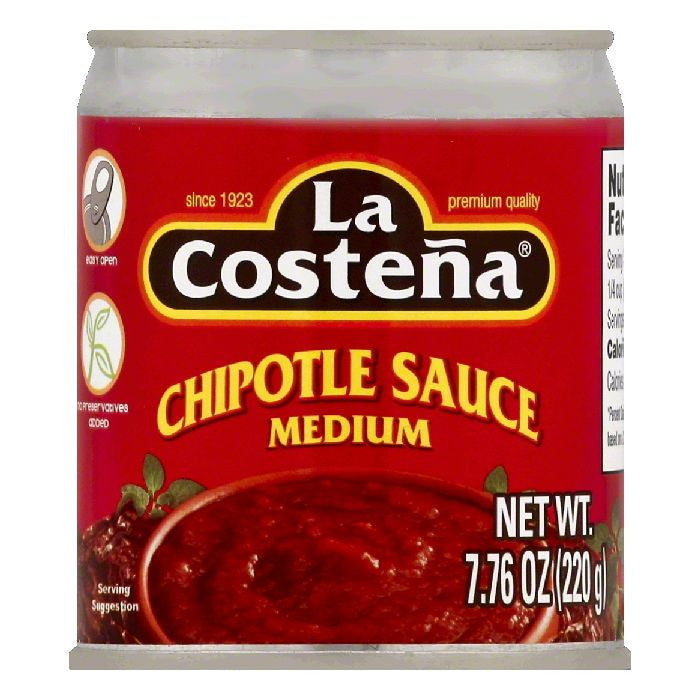 La Costena Medium Chipotle Sauce, 7.76 OZ (Pack of 24)