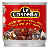 La Costena Chipotle Peppers, 12 OZ (Pack of 12)