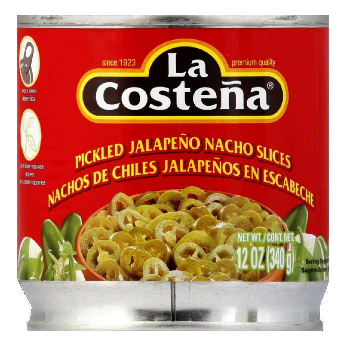 La Costena Jalapeno Nacho Slices, 12 OZ (Pack of 12)