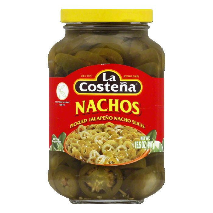 La Costena Nacho Jalapenos Jar, 15.5 OZ (Pack of 12)