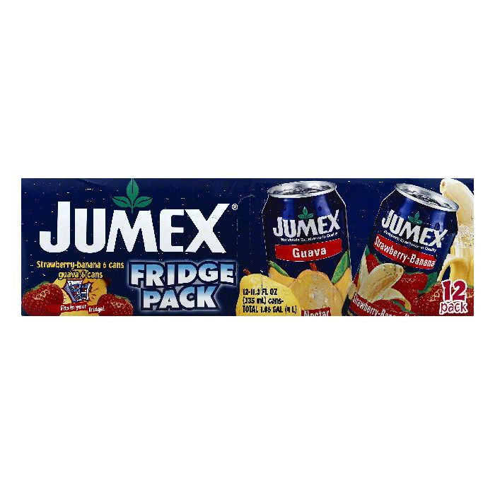 Jumex Fridge Pack Strawberry-Banana Guava Nectar, 12 ea