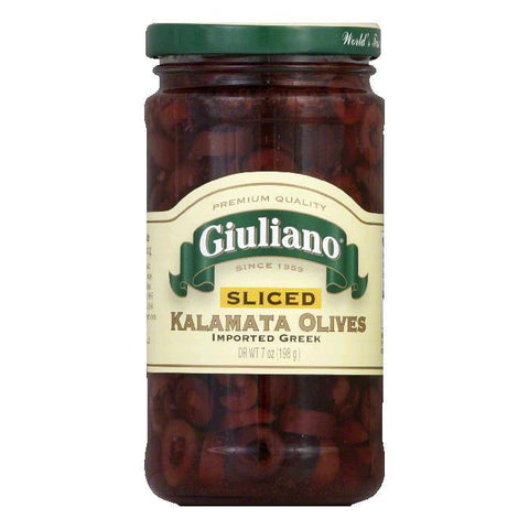 Giuliano Sliced Kalamata Olives, 7 OZ (Pack of 6)