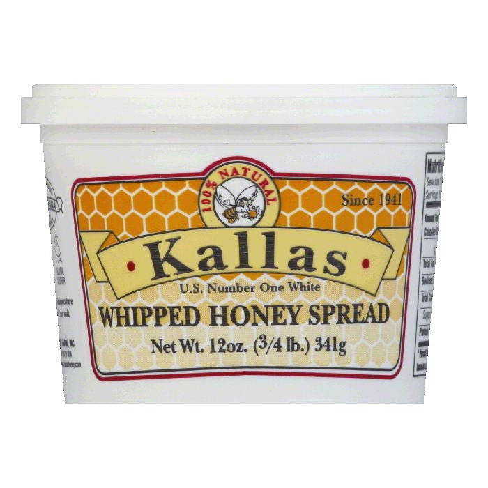 Kallas Spread Whipped Honey, 12 OZ (Pack of 12)